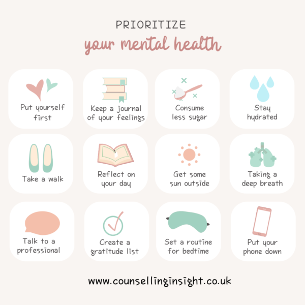 Prioritise your mental health